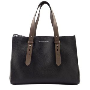 Brunello Cucinelli XL Hammered Leather Tote